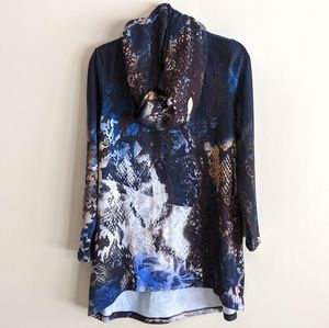 Cleo   petites long sleeve shirt and scarf